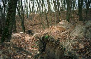Раскопки городища возле села Гайдары