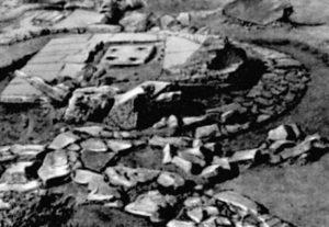 Фундамент храма на городище Тепсень