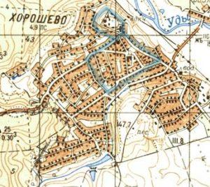 Хорошевское городище на карте