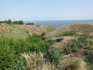 Любимівське городище і Каховське водосховище на Дніпрі