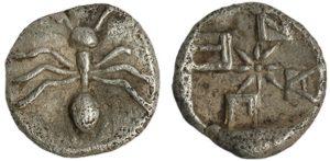 Монета Мирмекия с муравьем