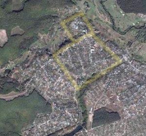 План городища в Хорошево
