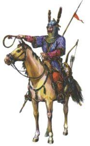 Воин печенег на коне