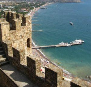 Вид с крепостной стены