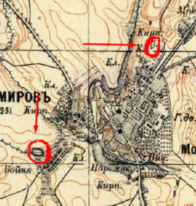 Немирів два городища на карті