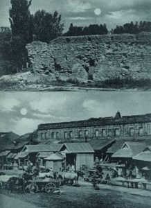 Руїни барського замку на старій фотографії