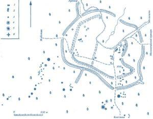 План Мотронинського городища у Мельниках