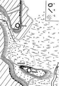 План городища у селі Велика Бурімка