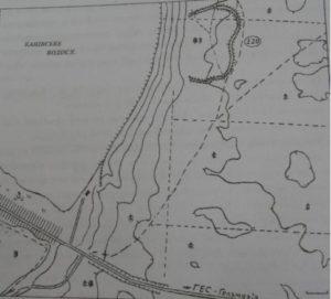 Розміщення городища біля села Ліплява