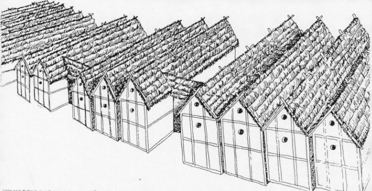 Трипільська оборонна стіна із жител