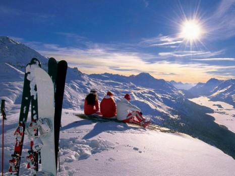 Лыжи в Альпах