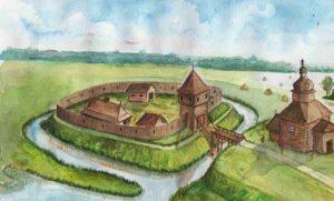 Реконструкція городища у Волосківцях