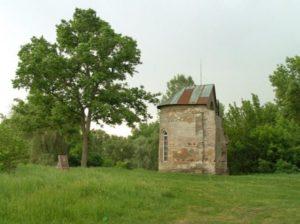 Руїни давньоруського храму на городищі в Овручі