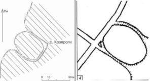 Городище у селі Козероги