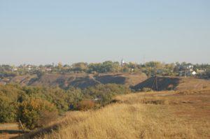 Вид на городище Новосиль