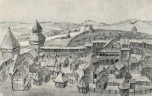 Застройка городища в Слободке
