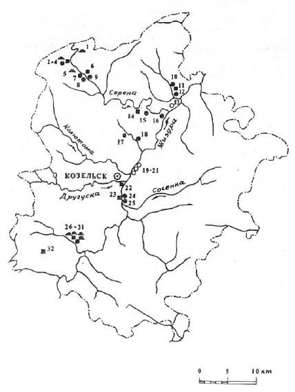 Археология Козельского района