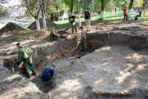 Раскопки на территории Орловской крепости