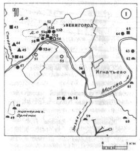 Археологические памятники окрестностей Звенигорода