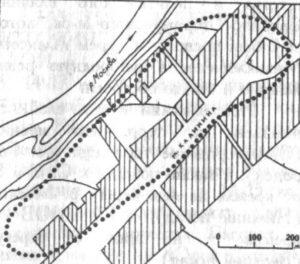 План верхнего посада древнего Звенигорода