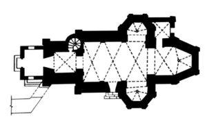 План Троїцького костелу