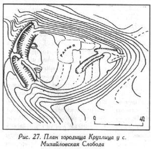 Городище у села Михайловская Слобода