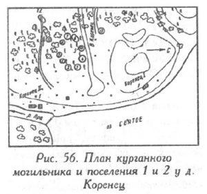 Курганы у села Коренец