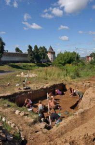 Раскопки стоянки в Зарайске