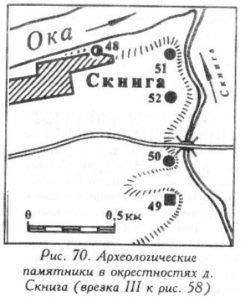 Археологические памятники у деревни Скнига