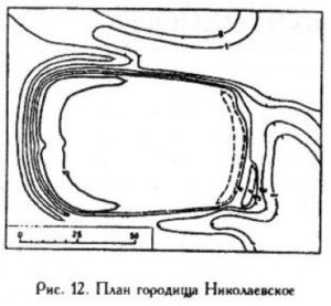 Городище в селе Николаевское