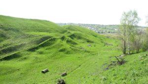 Валы городища Старая Кашира
