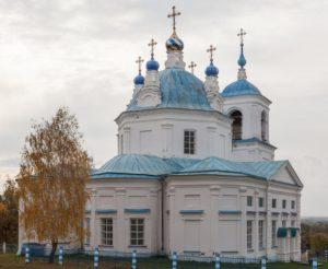 Богоявленский храм в селе Кият