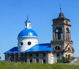 Храм Нерукотворного Образа Спасителя, село Уланово
