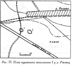 Курганный могильник у деревни Ржавец
