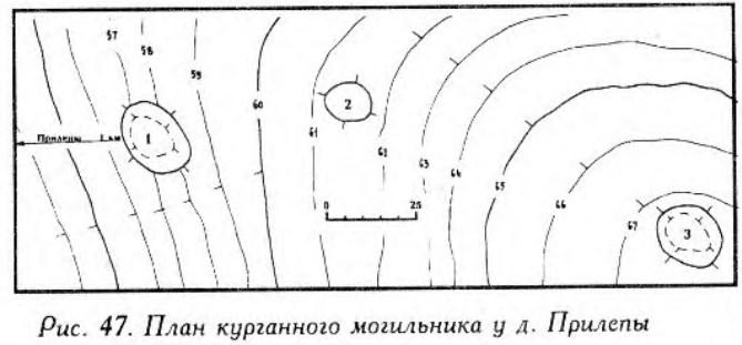Курганный могильник у села Прилепы