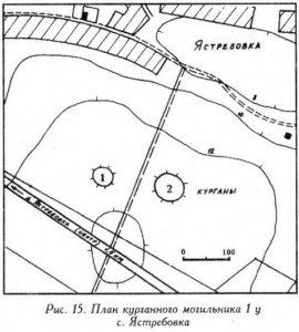 Курганный могильник у села Ястребовка