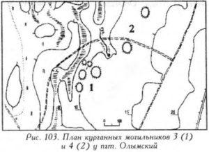 Курганы у поселка Олымский