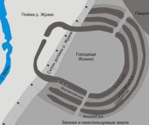План Жокинского городища