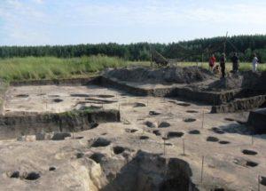 Раскопки на городище Жидеевка