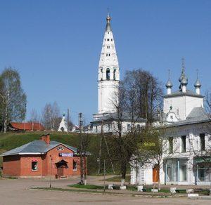 Спасо-Преображенский собор на Соборном холме в городе Судиславль