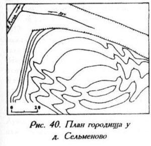 Городище у деревни Сельменово