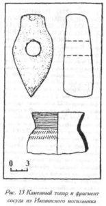 Каменный топор из Икшинского могильника