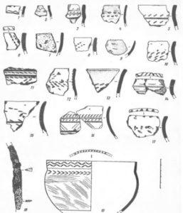 Керамика с многослойного поселения Джуджыд-Яг