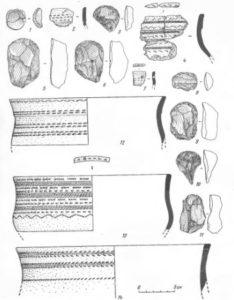 Находки раннего железного века с поселений на реке Ижма