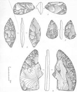 Находки с палеолитической стоянки Бызовая