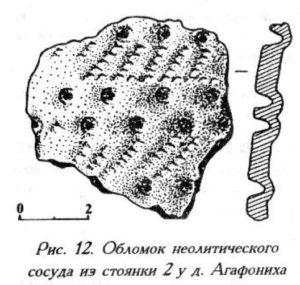 Неолитический сосуд из стоянки у деревни Агафониха