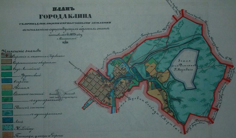 План города Клин, конец ХІХ века