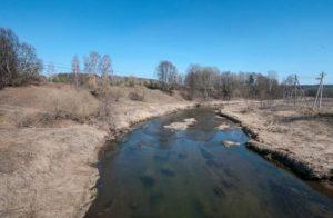 Река Истра и городище у села Бужарово