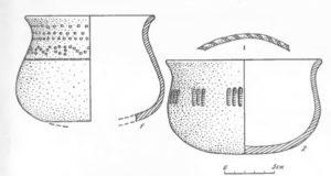 Сосуды из погребений Кичилькоського могильника