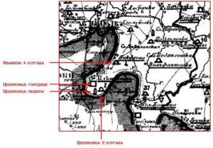 Цекинівка на археологічній карті Євфімія Сіцінського